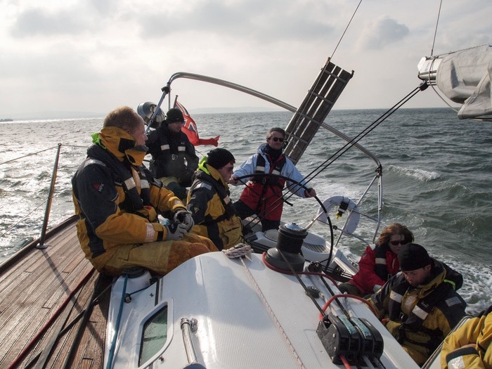 Beating towards Cowes